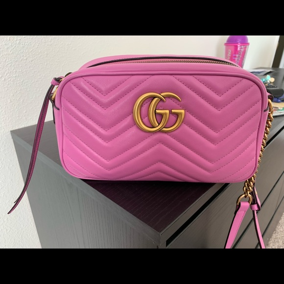 c6070de1dfb981 Gucci Bags | Marmont Small Camera Bag Candy Pink | Poshmark